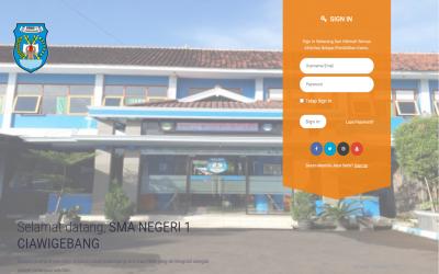 Situs E-Learning SMAN 1 Ciawigebang telah hadir